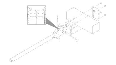 large trailing arm drawing showing polyethylene durometers