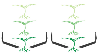 Tender Plant Hoe for large plant cultivation