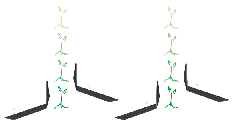 Tender Plant Hoe for small plant cultivation