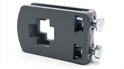 standard cross clamp - rectangular toolbar to flat shank