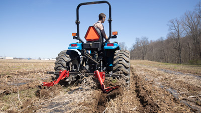 Tilmor Plastic Lifter on Compact Tractor