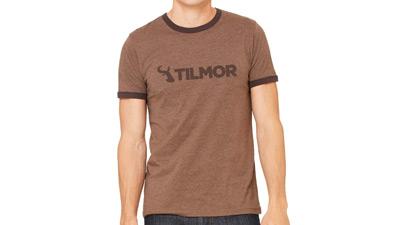 Tilmor T-shirt - Dark Brown Ringer