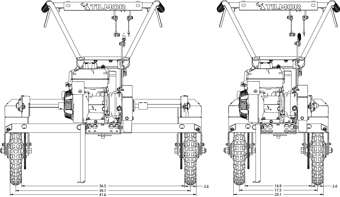 Power Ox Narrow Front Drawing