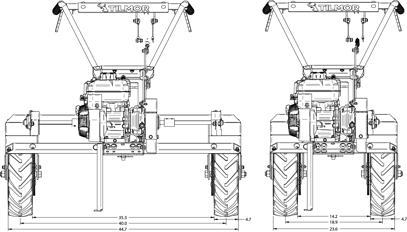 Power Ox Wide Front Drawing