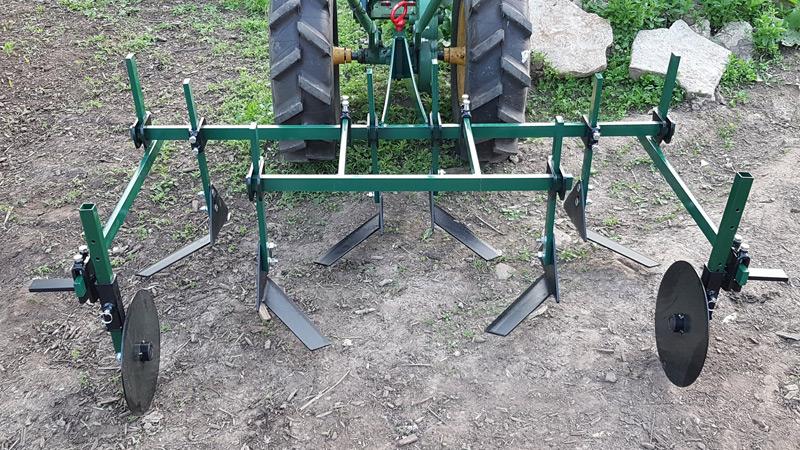 3 Row Tender Plant Hoe on Walk Behind Tractor