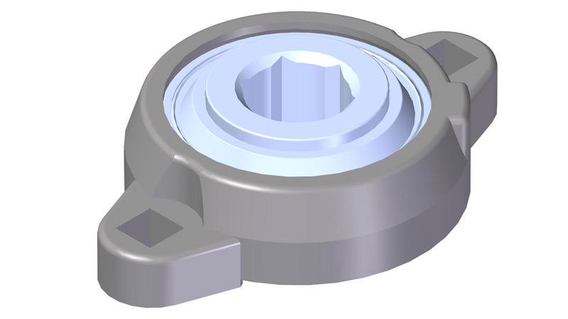 "Bearing, Flange 3/4"" Hex"