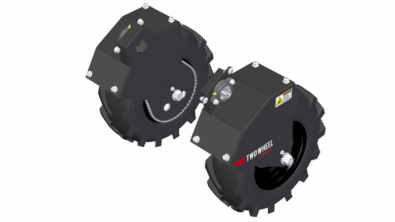 Fat/Bar Tire Wheel Mounts for Tilmor Power Ox