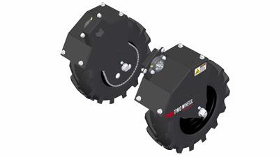 Fat/Bar Tire Wheel Mounts for Tilmor Power Ox