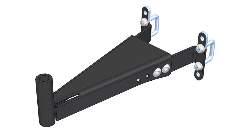 "1.5"" Square toolbar mount for Power Ox and Planet Jr."