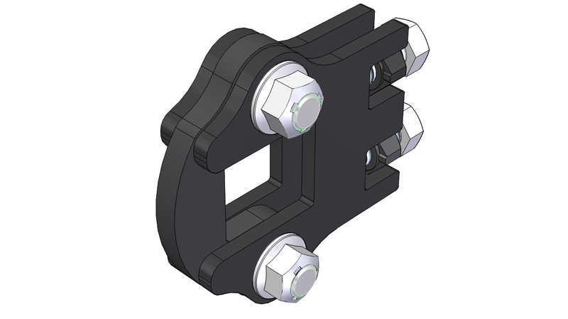 "Flat Shank Clamp for 1.5"" Square Toolbar"