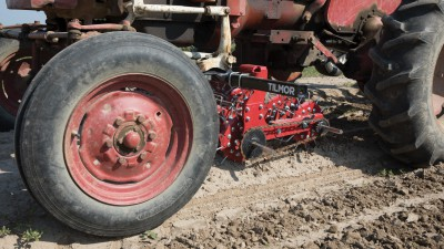 Tilmor Basket Weeder on Farmall 140