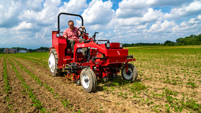 Tilmor Tractor with Finger Weeder