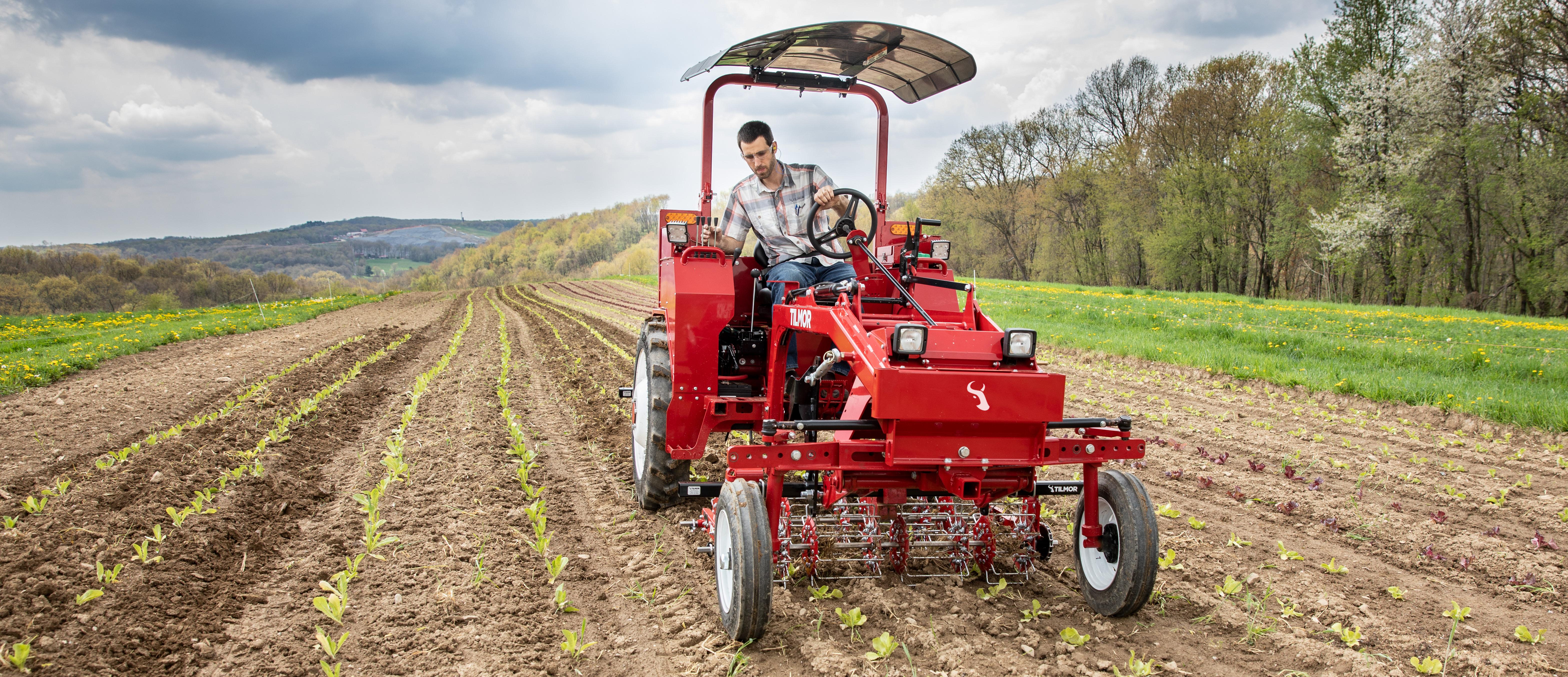 Tilmor Tractor basket weeding